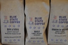 Two interesting single-origin coffees shared shelf space with a stereotypical blend.