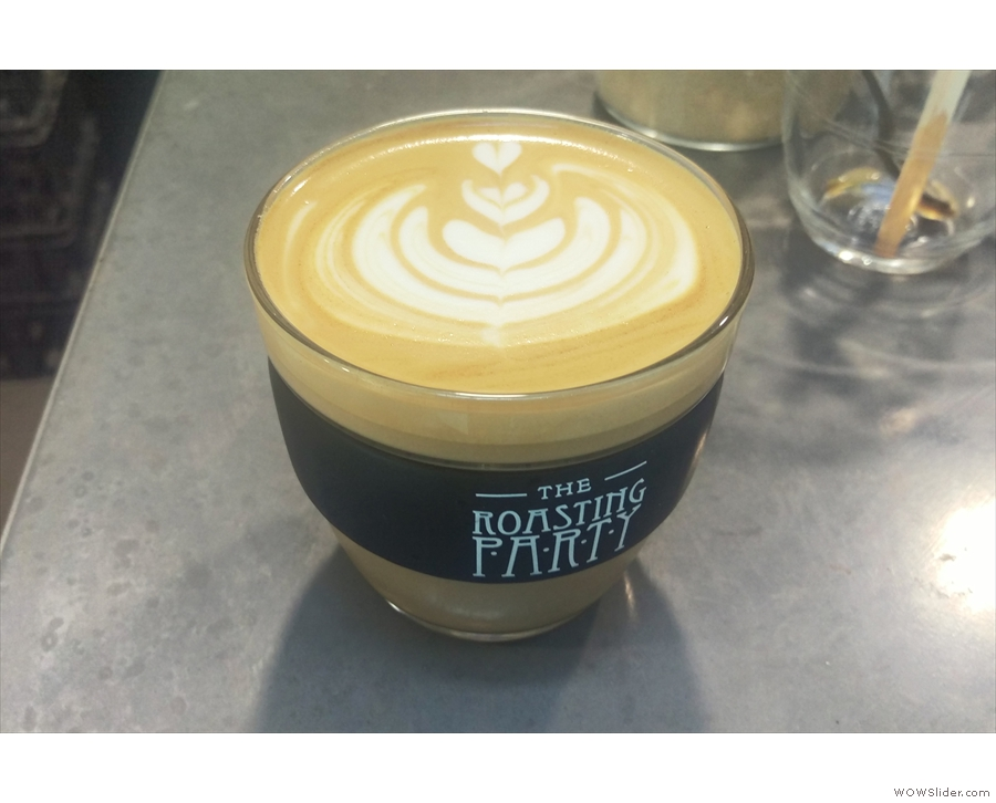 However, it wasn't just espresso. This was my flat white from my first day (Monday).