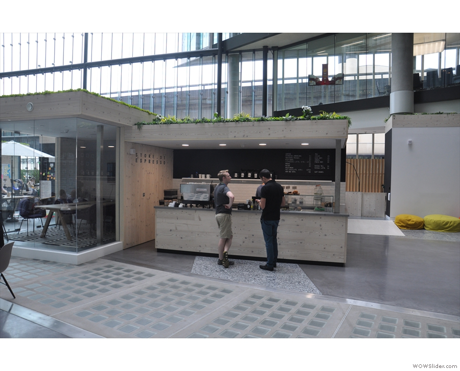 Enough gawping at the architecture: this stand-alone counter is what we've come for.