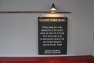 However, the sign on the wall helpfully suggests that we need to go down to order.