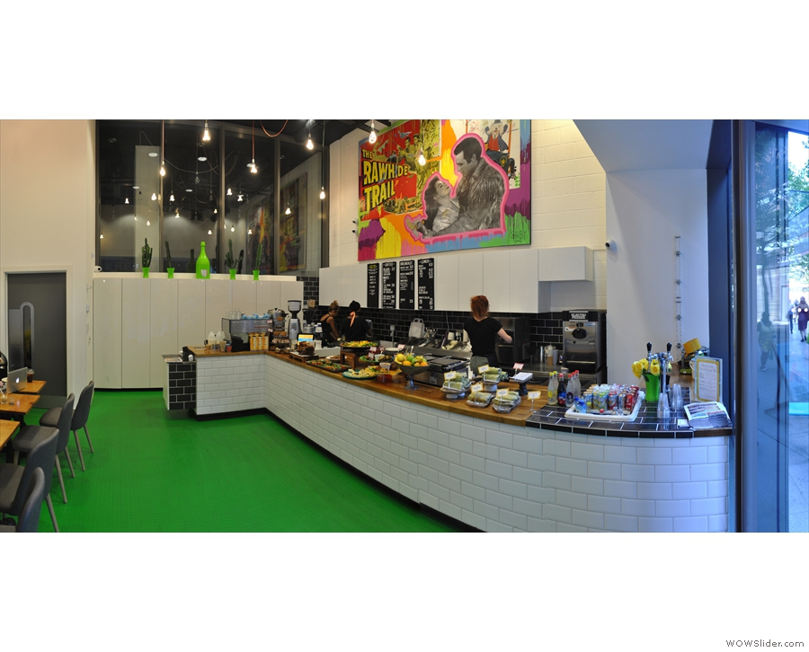 The layout of the counter has changed too. This is what it looked like in 2015...