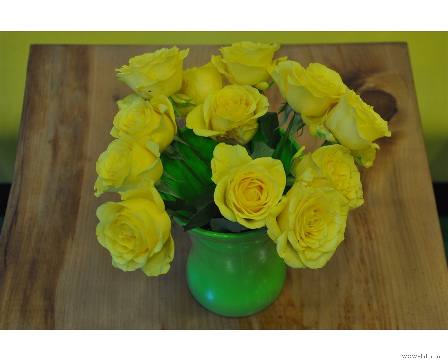 ... while these yellow roses were there on my second visit of 2015.