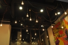 There are lots (& lots) of lights in Beany Green, hanging down from the very high ceiling.
