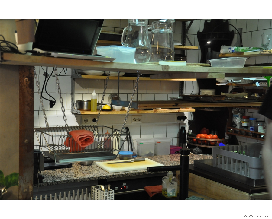 Why, it's Fabrica's impressive kitchen, where all the food is prepared.
