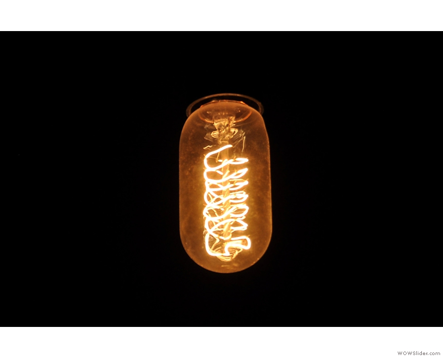 Oblogiatory light bulb shot.