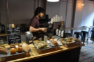 Barista (Justo) at work.
