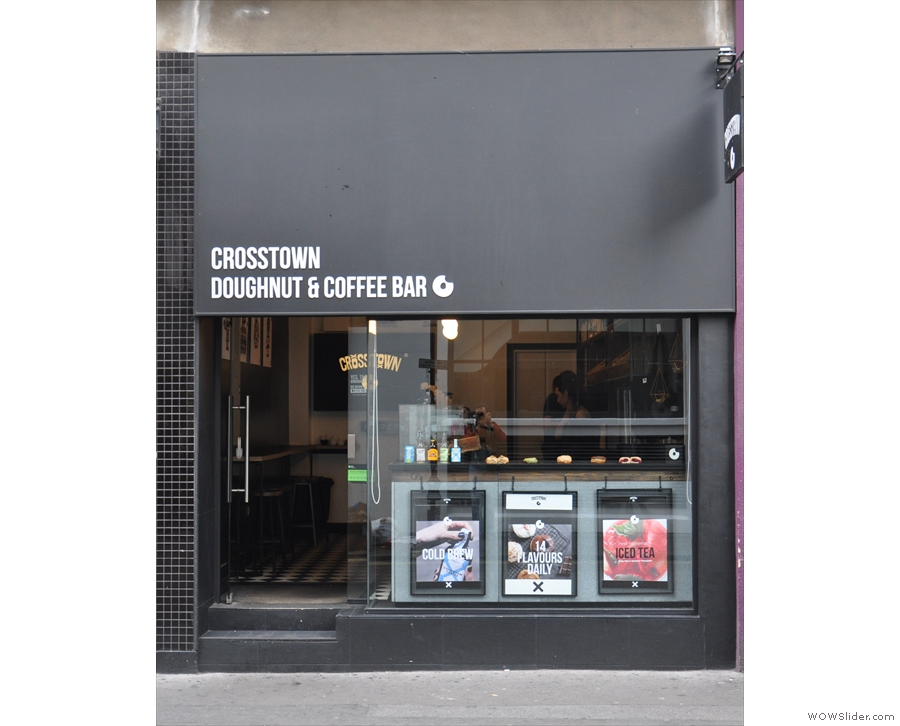 Crosstown Doughnuts' Doughnut & Coffee Bar, on Broadwick Street in Soho...