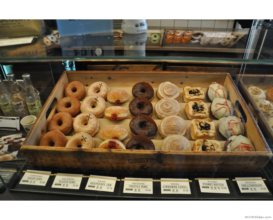 Just in case that's not enough choice, here's seven more types of doughnut in the next box.