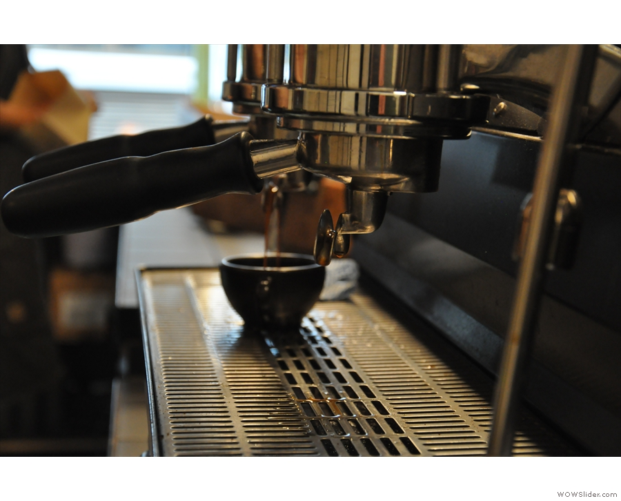 It also has a La Marzocco Strada, so no skimping on the equipment.