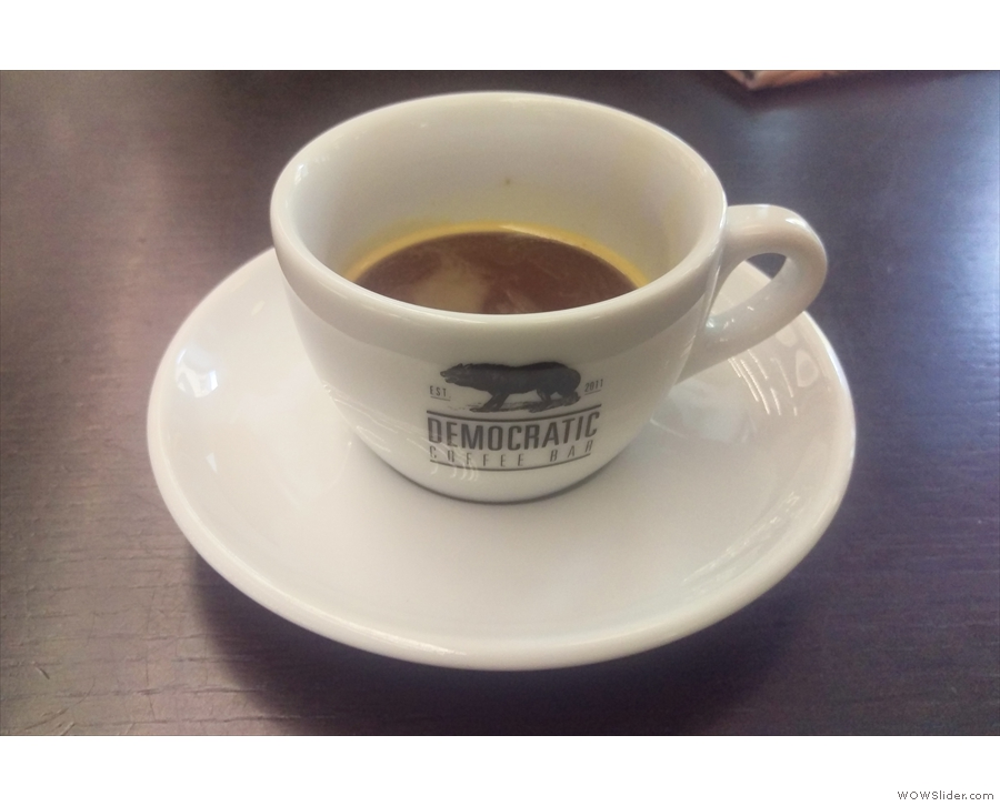 ... when I ordered an espresso, made with the same beans as in my V60. Interesting...