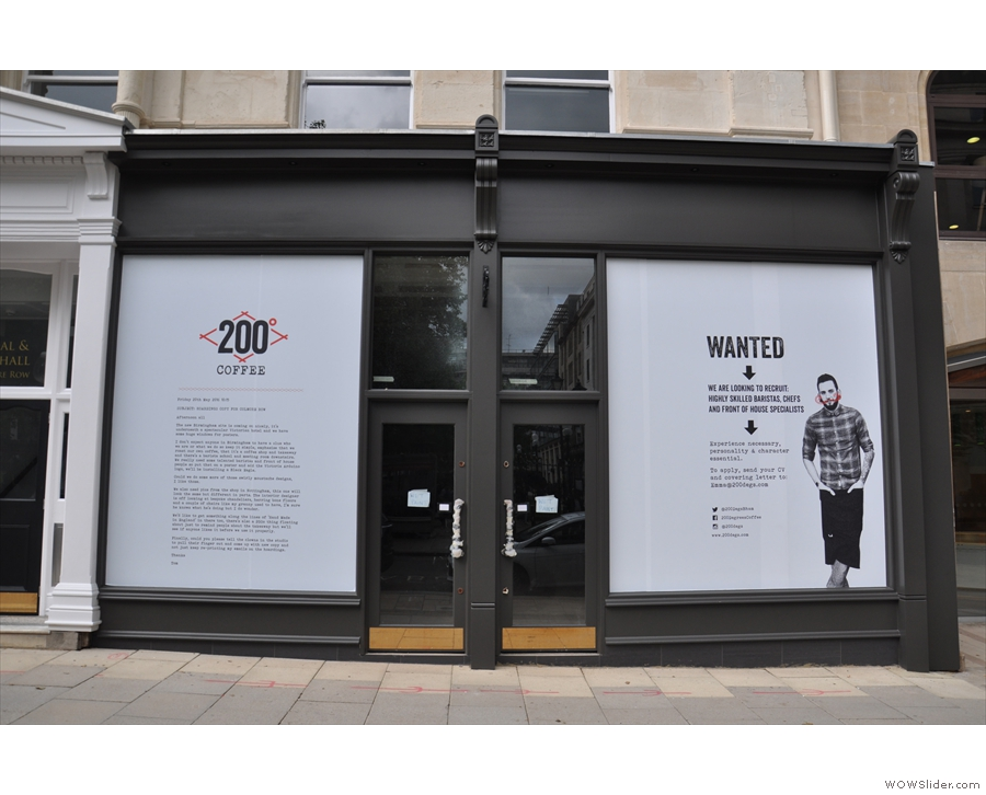 The new 200 Degrees in Birmingham, looking distinctly not open in June this year...