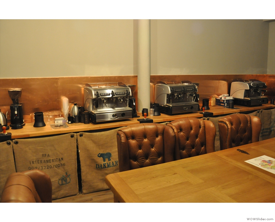 ... 200 Degrees' barista training room, complete with various espresso machines...
