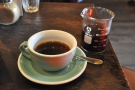I went for the Tanzanian single-origin through the Aeropress. Nice presentation.