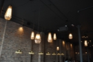 More of the lights, with these large pendants hanging in the middle...
