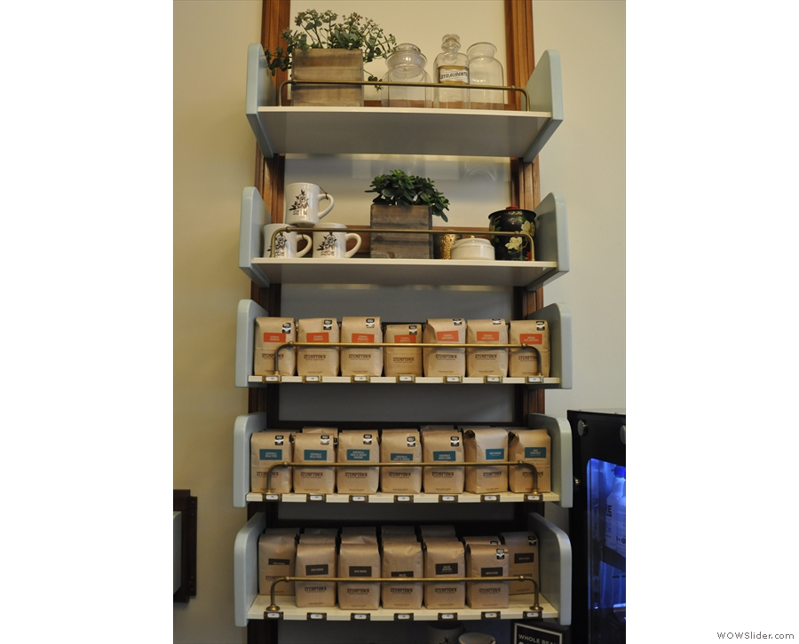 A second set of retail shelves (from 2016).