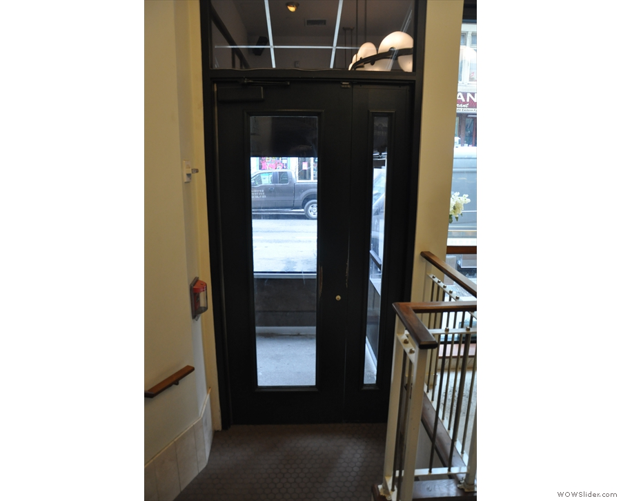 Directly opposite it is the door from the street, which provides step-free access.