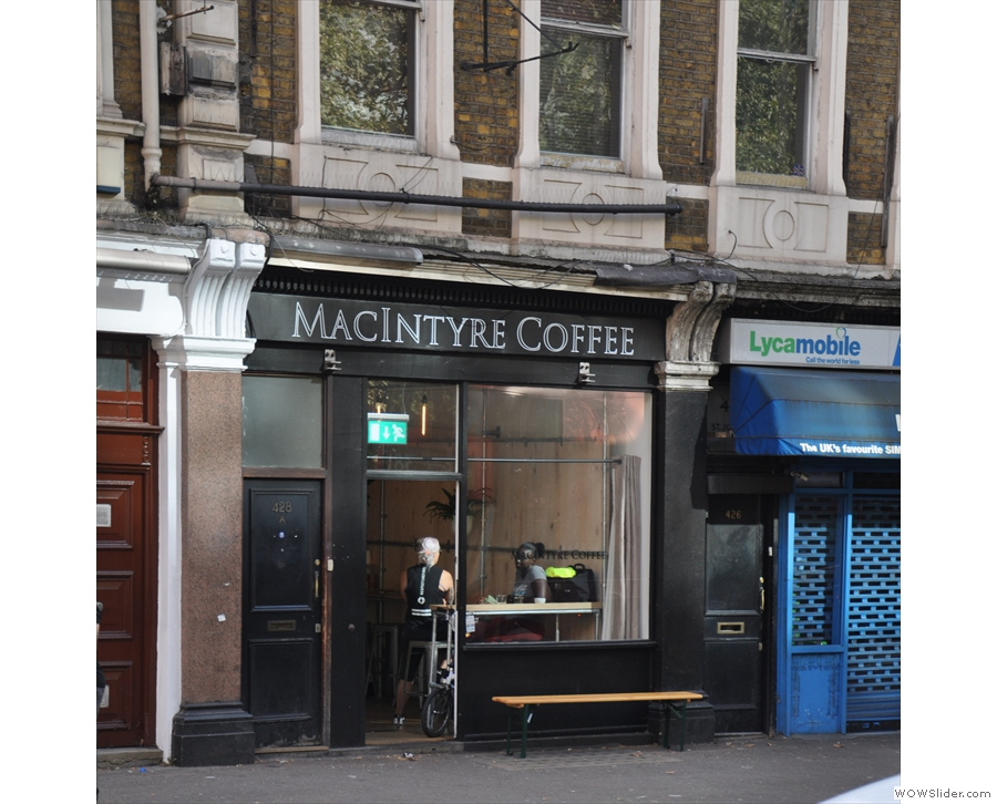What's that across the road, just south of the Angel in London? It's MacIntyre Coffee!