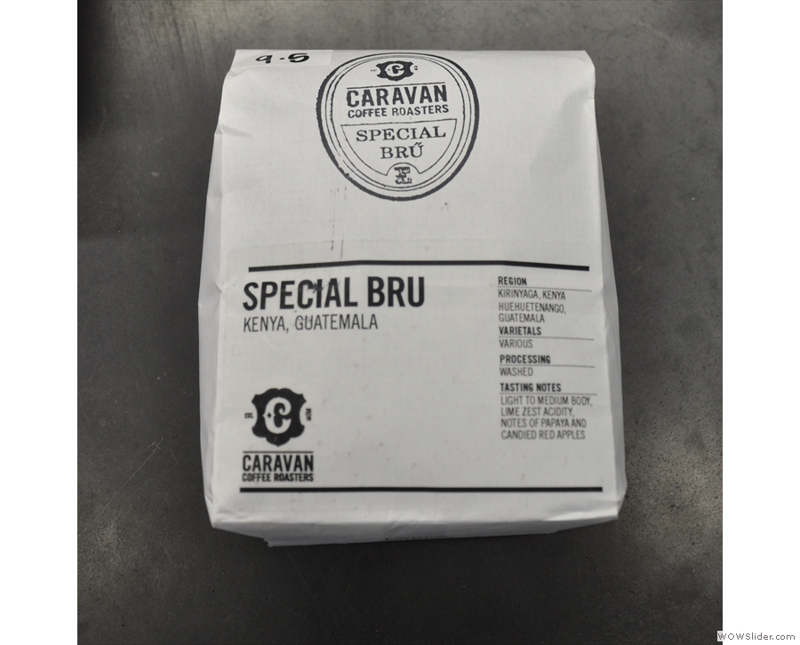 ... while Caravan's Special Bru filter blend is used for the iced coffee.