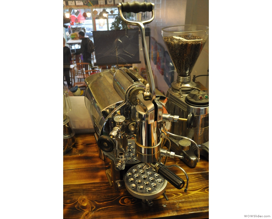 There's a very interesting, single-lever espresso machine for example.