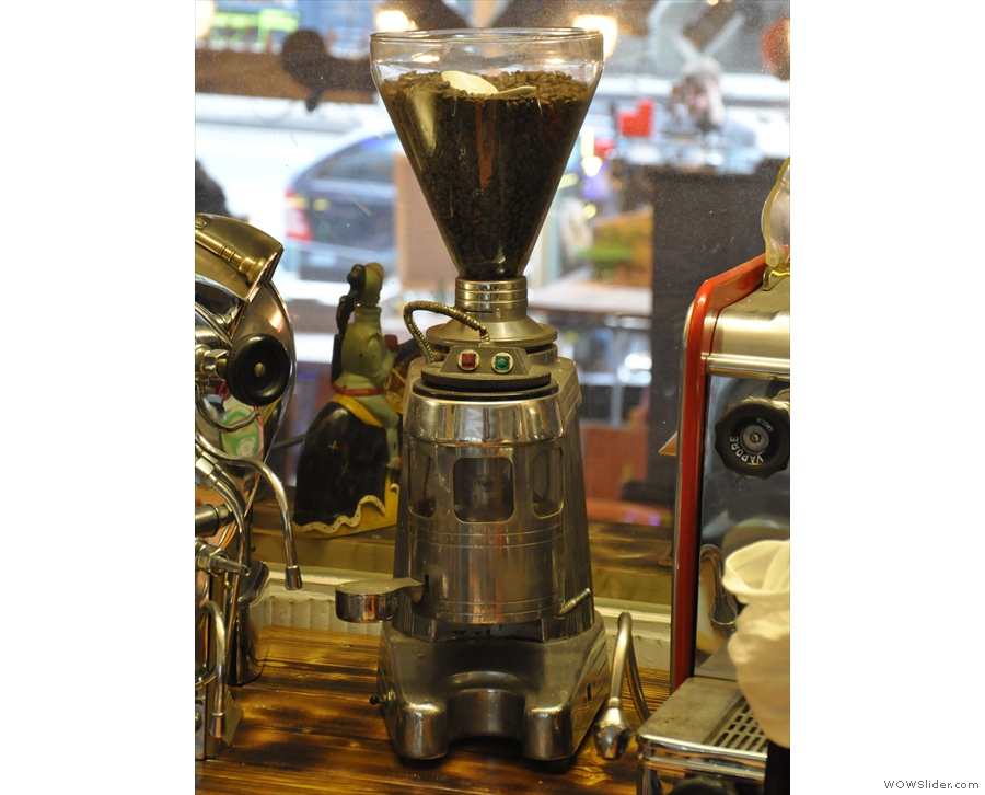 It's not just espresso machines. Doctor Espresso also has vintage grinders.