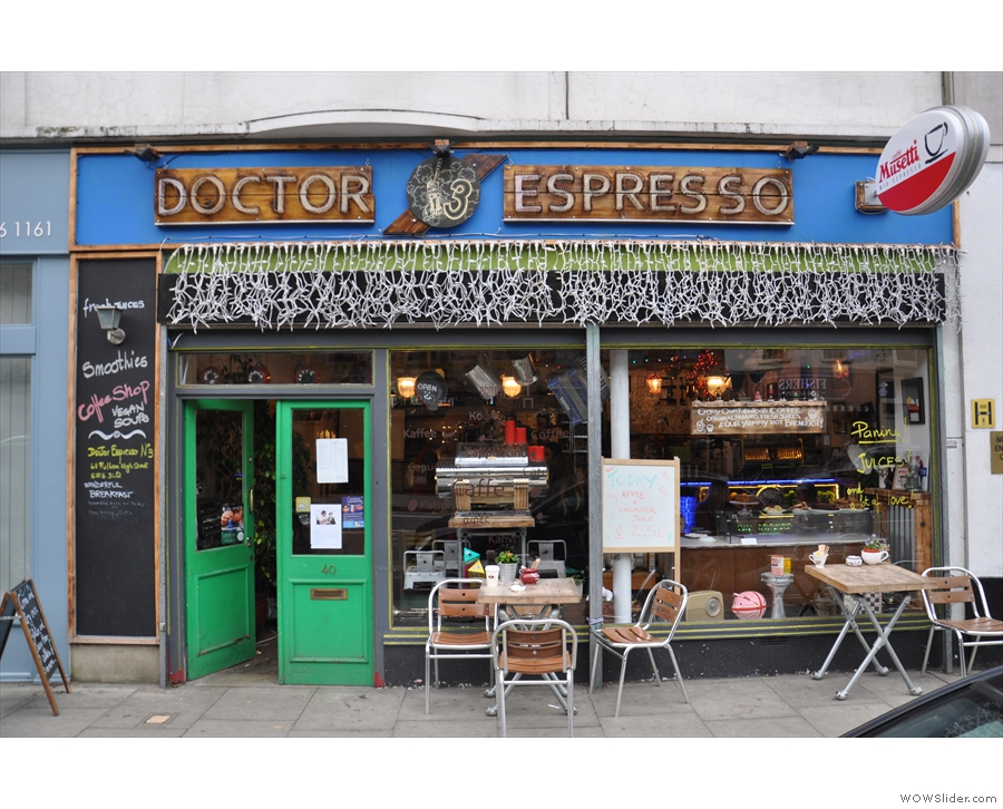 The third Doctor Espresso, N3, on Fulham High Street.