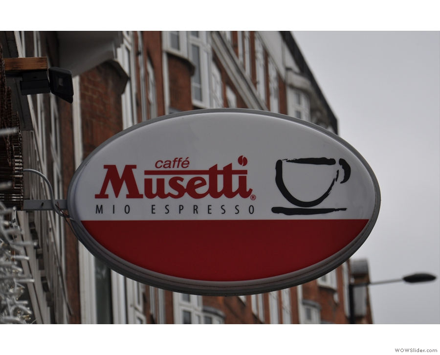 ... plus this vintage espresso sign which graces the High Street.