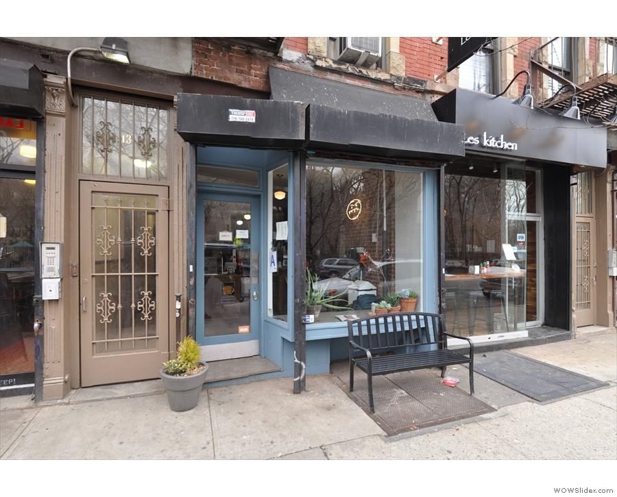 Café Grumpy's Lower East Side branch on Essex Street, a few blocks from my hotel.