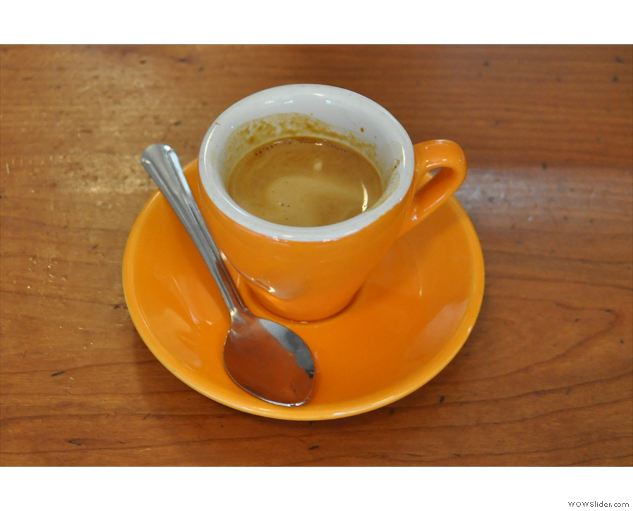 I followed my flat white up with a shot of the single-origin guest espresso.