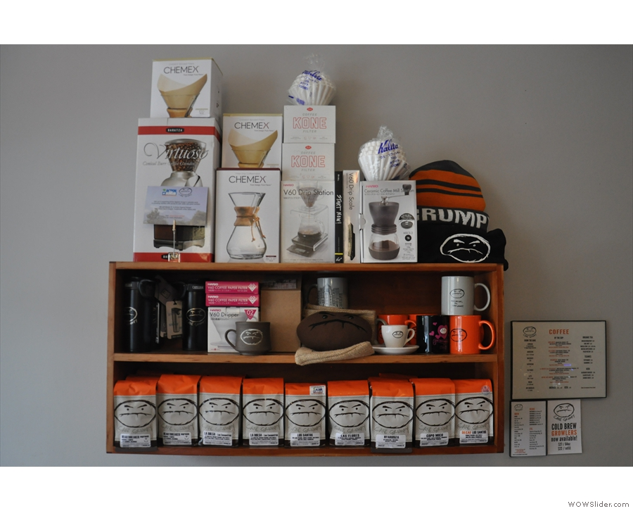 For somewhere so small, Café Grumpy has an impressive retail selection.