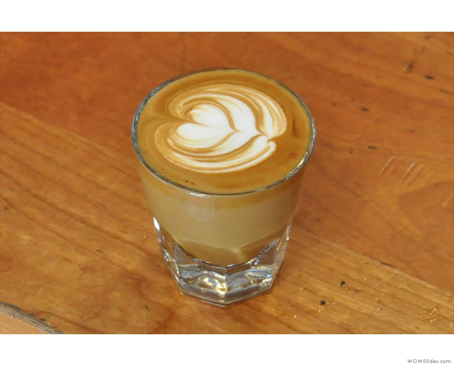 This cortado, by the way, was not for me; the manager was having it.