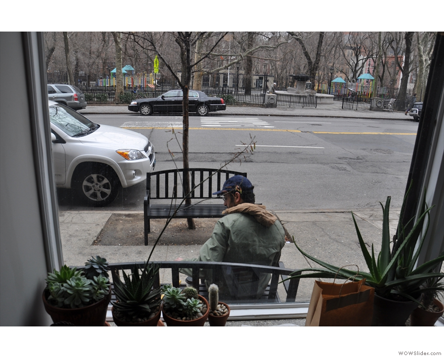 ... where you can sit in the warm/quiet and watch everyone else sitting outside.