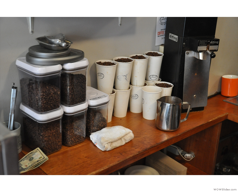 It's all of Café Grumpy's single-origins beans! You can have any of them as a pour-over.