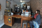 ... where you have the option to perch on one of two bar stools by the espresso machine.