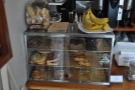 As well as coffee, there's also a selection of cookies, etc, plus some healthier options.