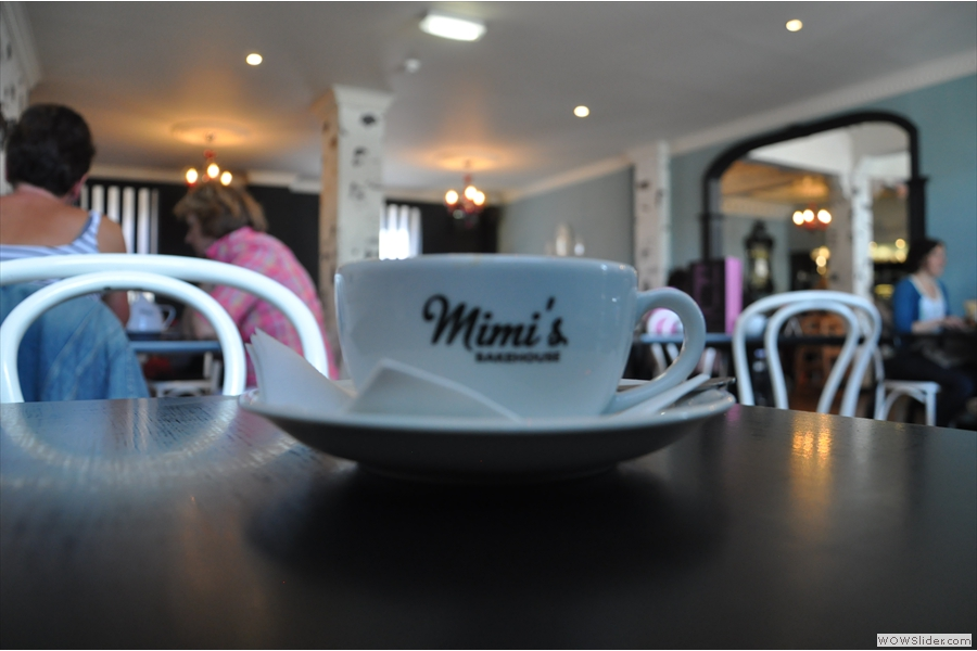 The coffee's eye view of the new extension at Mimi's