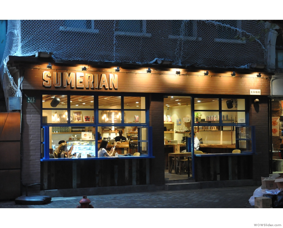 Sumerian Coffee in Shanghai, on Shaanxi North Road.