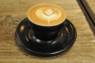 My first speciality coffee in Shanghai: this lovely, smooth cappuccino in a handleless ciup.
