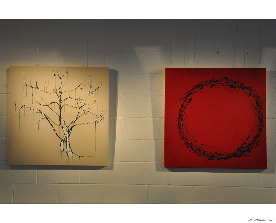 Some of the artwork on display by Emily Jolley during my visit in June.