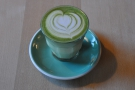I'll leave you with this: a matcha latte. Pretty latte art, but far too green in my opinion!