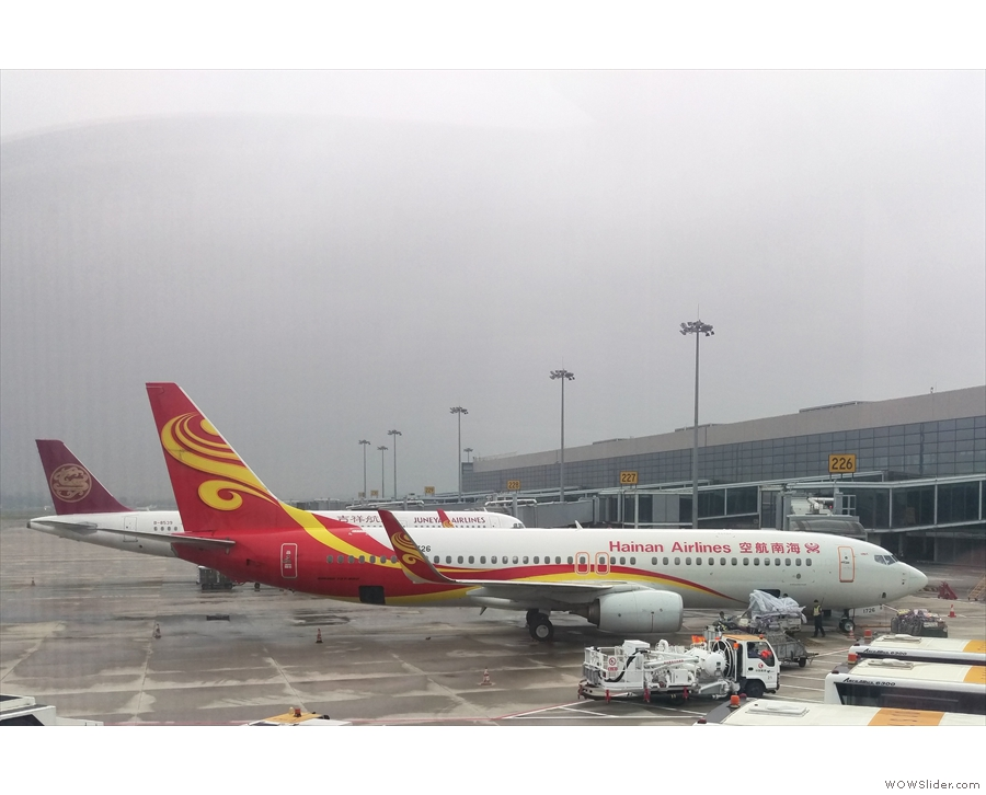 Then it was time to board our plane, a shiny new 737-800, for the flight to Beijing.