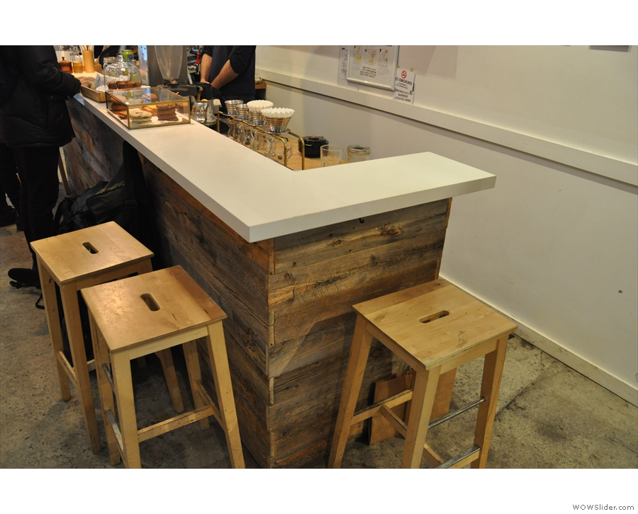 ... where the obvious attracton is the brew bar, so you can watch your coffee being made.