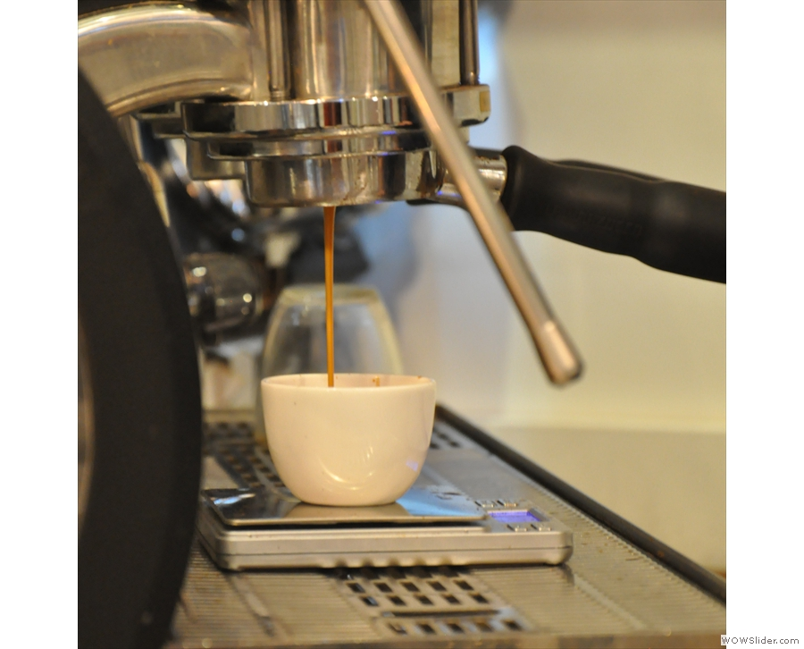 The joy of watching espresso extract.