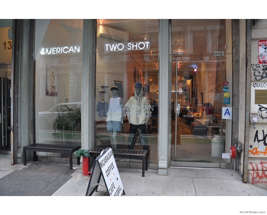 The American Two Shot clothing store on Grand Street in New York City.