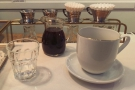 And here it is, served, as it should be, in a separate jug. Quite rare for New York.