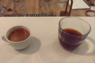 My barista, Adam, also gave me a sample of the bulk-brew (the El Bosque) to try.