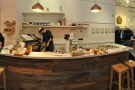 The counter, in all its glory, espresso to the left, pour-over to the right.