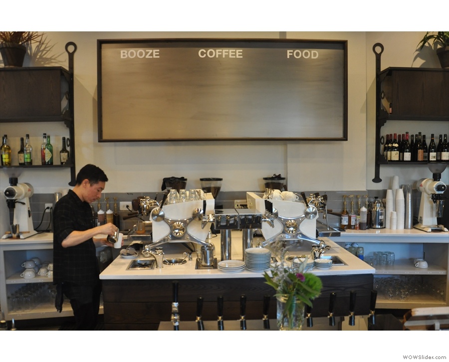 Ipsento has not one, but two Slayer espresso machines, right at the heart of the counter!