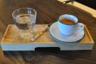 My coffee, a shot of the house-blend, was beautifully presented when it arrived.