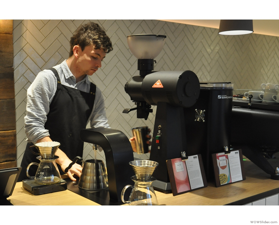 Origin also does plenty of pour-overs, using a modified Kalita Wave recipe from Charlotte Rd.