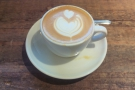 A very poor photo of a very fine flat white!
